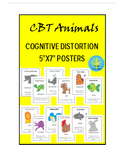 CBT Animal Posters (Cognitive Distortions)