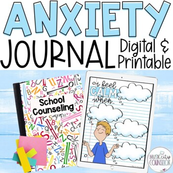 CBT Anxiety Lap Book: Let's Think POSITIVE and S.T.O.P our Anxious Thoughts!