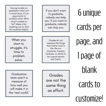 CBT Inspired Growth Mindset Mantra Cards for Drop Out Prevention