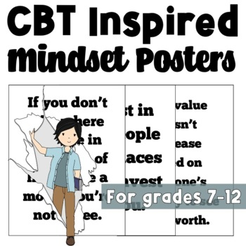 CBT Inspired Posters to Reframe Failure Mindsets into Thriving Mindsets
