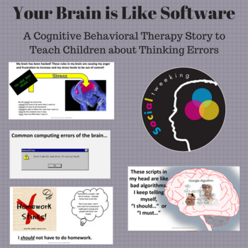 CBT Social Story Thinking Errors: Your Brain is like software