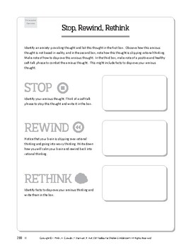 Free Worksheets from CBT Toolbox for Children and ...