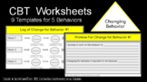 """CBT Worksheets - """"Changing Behavior"""""""