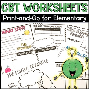 CBT Worksheets for Elementary Students by The Responsive