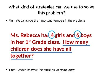 CC.1.OA.1 Math Word Problem Strategies for Addition and Subtraction