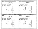 CC.1.OA.3 Math Addends Exit Slip