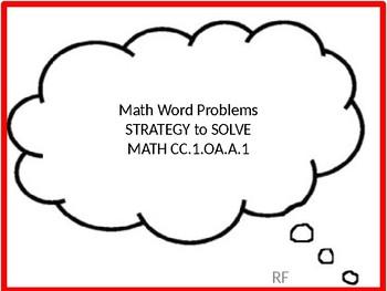 CC.1.OA.A.1 Math Addition Word Problems Strategies