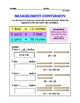 CC.4.MD.1 Measurement Conversions, 3 Levels, Differentiated for Special Ed