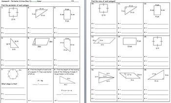 CC 6th Grade Math Unit BUNDLE: Area, Perimeter, Circumference & Angles/Triangles