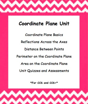 CC 6th Grade Math Unit BUNDLE: Coordinate Plane (Reflect, Distance, & Area/Per)