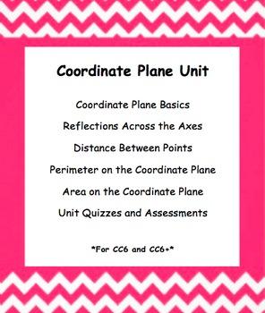 CC 6th Grade Math Unit BUNDLE: Coordinate Plane (Reflect, Distance, & Area/Per)