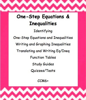 CC 6th Grade Math Unit BUNDLE: One-Step Equations and Inequalities