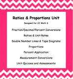CC 6th Grade Math Unit BUNDLE: Ratio, Proportion, Percent & Measurement Conver.