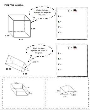 CC 6th Grade Math Unit BUNDLE: Surface Area and Volume | TpT