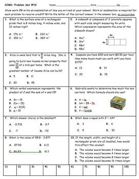 CC 6th Grade Math Unit BUNDLE: Surface Area and Volume