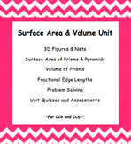 CC 6th Grade Math Unit BUNDLE: Surface Area and Volume