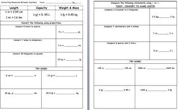 CC 6th Math (Advanced) Unit BUNDLE: Ratio, Proportion, Percent & Measurement