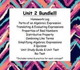 CC 6th grade Math Unit BUNDLE: Algebraic Expressions & Pro