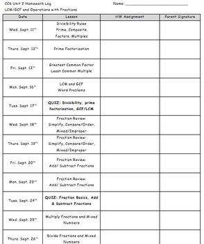 CC 6th grade math Unit BUNDLE: Prime Factorization, GCF/LCM, Fraction Operations