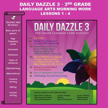 Language Arts Bell Ringer - DAZZLE 3 (3rd grd)  Lessons 1