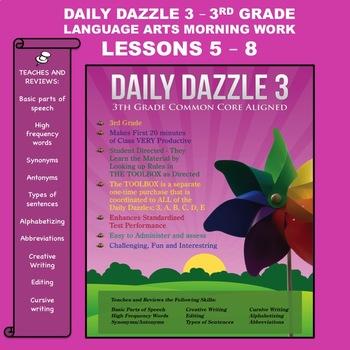 MORNING WORK BUNDLED LESSON -3rd Grade - DD 3 - Lessons 5 - 8 CC Aligned