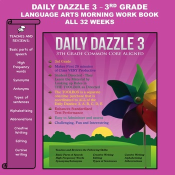 MORNING WORK BOOK - 3rd Grade - Weekly Lessons 1 - 32 - 1 full YEAR - CC Aligned