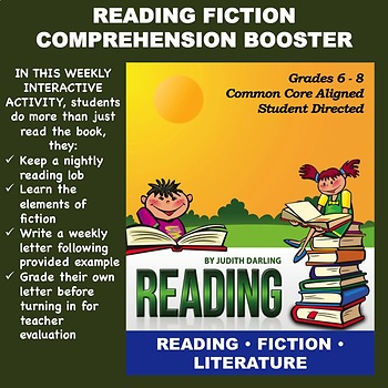 Reading FICTION Comprehension Booster for Grades 6 - 8