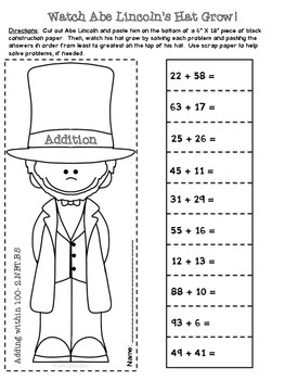 2nd Grade President's Day Math {Common Core Aligned- All 4 domains!}