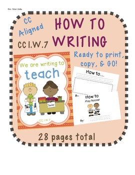 CC Aligned How to Writing - CC W.7