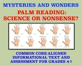 Mysteries and Wonders Passage and Assessment #13: Palm Reading