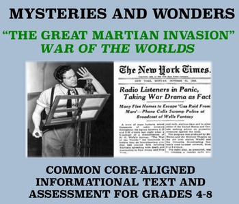 Mysteries and Wonders Passage and Assessment #15: The Great Martian Invasion
