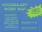 CC Aligned Vocabulary Word Map