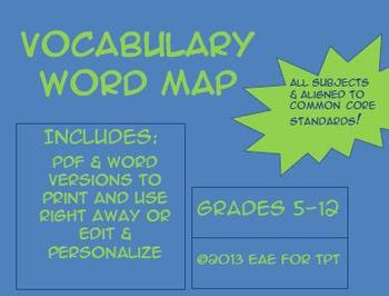 CC Aligned Vocabulary Word Map