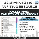 CC Argumentative Essay Packet #5: Proofreading Your Essay