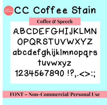 CC Coffee Stain Font