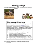 CC Cycle 1 & AHG Zoology Activity
