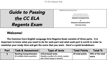 CC ELA Regents Exam Prep Guide