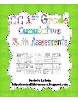 CC First Grade Cumulative Math Assessments
