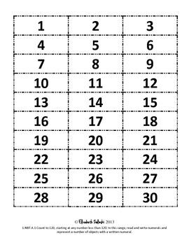 CC First Grade Math: Num. and Base Ten: 1.NBT.A.1: Number Wheel (Ext. Version)