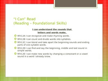 "CCSS ""I Can"" Statements Classroom Instruction That Works ELA Math"