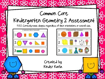 CC Kindergarten Geometry 2 ... by Karla's Kreations | Teachers Pay ...