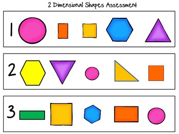 CC Kindergarten Geometry 2 Shape Assessment