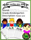 CC.L.K.1.A I can Write My ABC's, Kindergarten Alphabet Tra