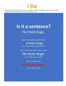 CC.L.K.1.F Kindergarten Sentences
