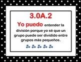"""Common Core Math """"I Can Posters"""" SPANISH (Pok-A-Dot)"""