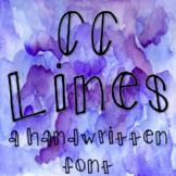 CC Lines: Handwritten Font