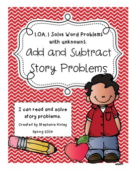 CC - Math Word Problems - August/ September Edition  {Adding and Subtracting}