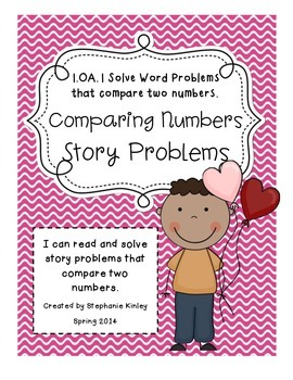 CC - Math Word Problems - February Edition {Comparing Numbers}