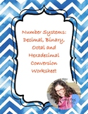 CC - Number Systems Conversion: Decimal, Binary, Octal and