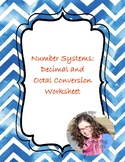 CC - Number Systems Conversion: Decimal and Octal